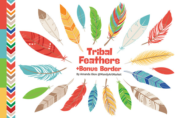 Kids Feather Clipart Vectors
