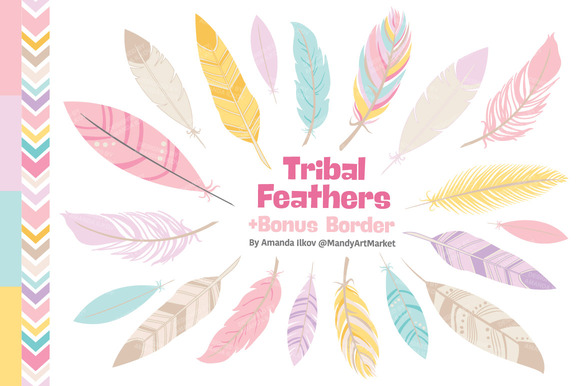 Pink Feathers Clipart Vectors