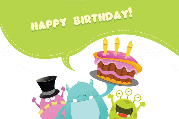 Monsters Birthday Card