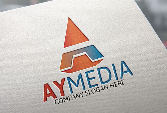 Letter A Logo Ay Media