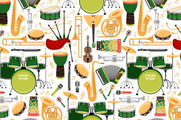 Pattern With Music Instrument
