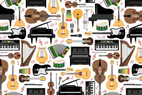 Pattern With Music Instruments