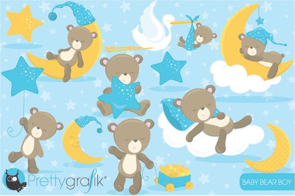 Baby Bear Boy Clipart