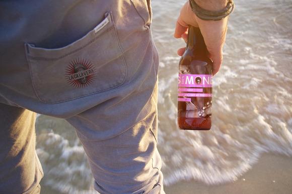 Beer Bottle Logo Beach Mockup