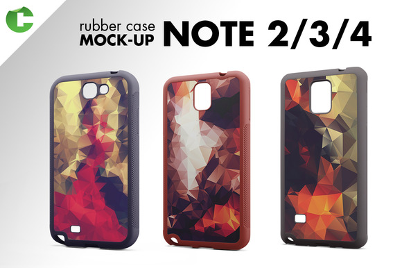 Note 2 3 4 Rubber Case Mock-up