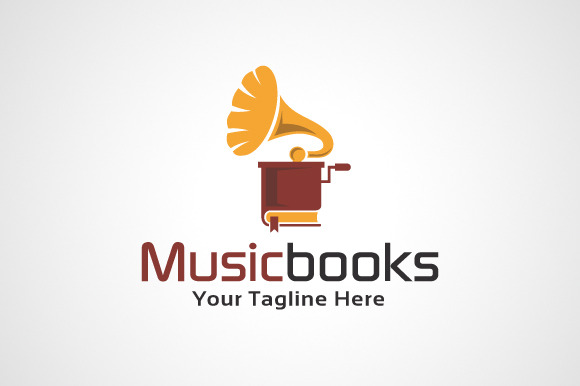 Music Books Logo Template