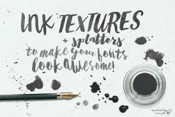 Ink Textures For Fonts