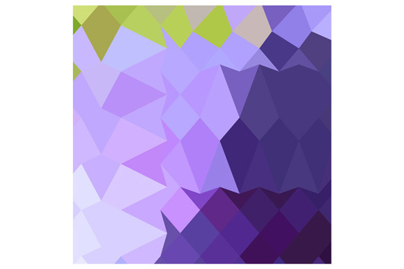 Cyber Grape Purple Abstract Low Poly