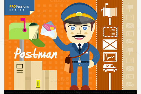 Postman In Uniform
