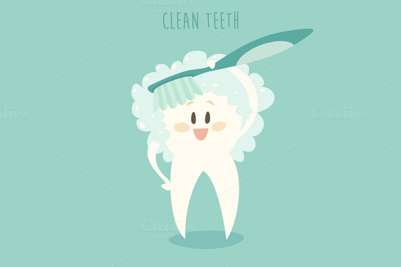 Teeth Cleaning Illustration