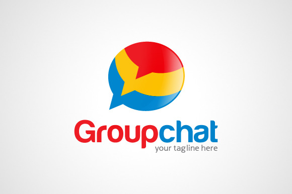 Group Chat Talk Logo Template