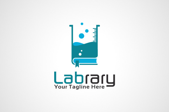 Lab Library Logo Template