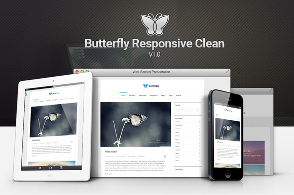 Butterfly Responsive Clean Blog