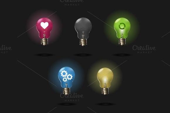 Dark Light Bulb Set