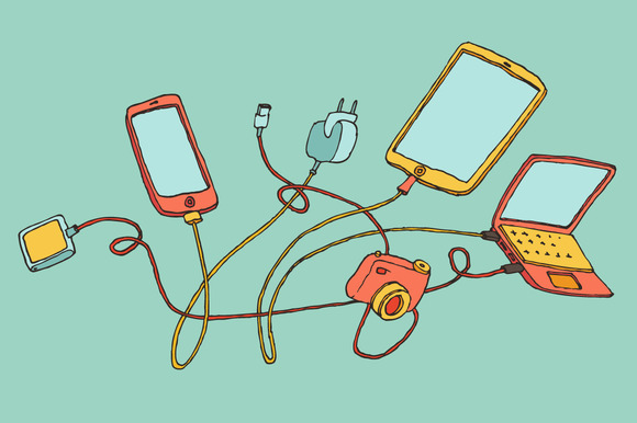 Electronic Devices Illustration