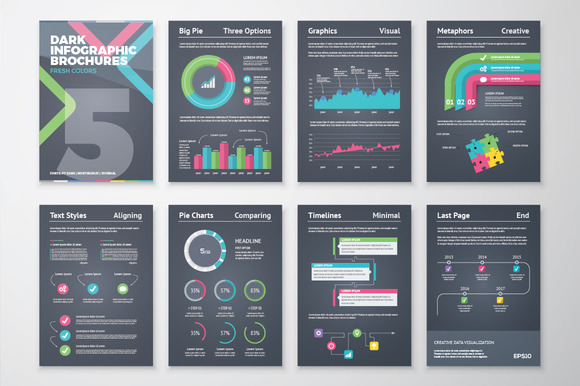 Infographic Brochure 5 Dark Version