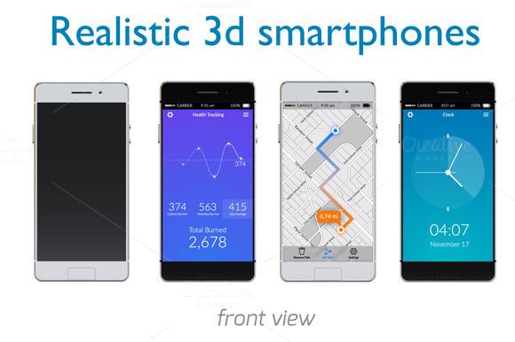 Realistic 3D Smartphones