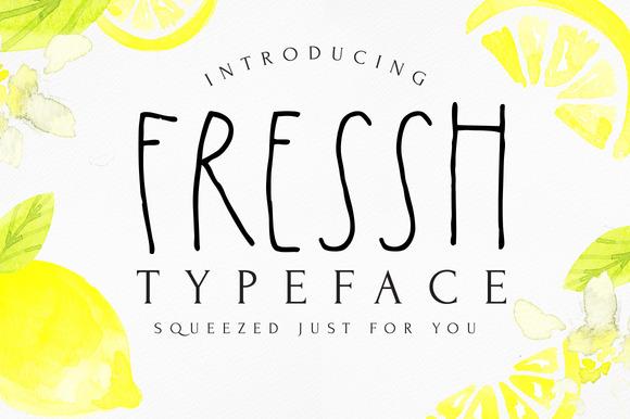FRESSH Typeface