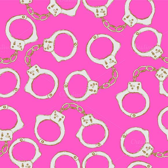 Sketch Steel Handcuffs