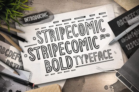 Stripecomic Typeface