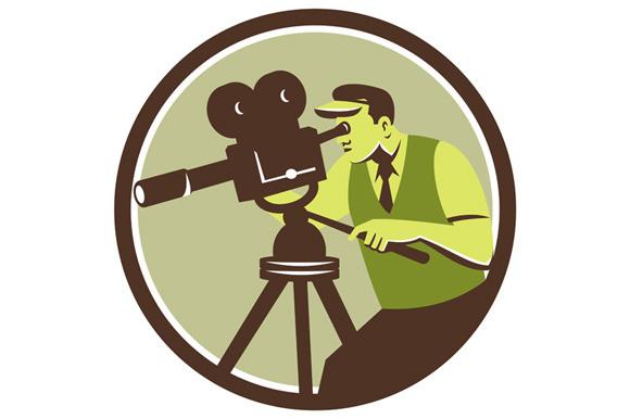 Cameraman Director Vintage Camera Re