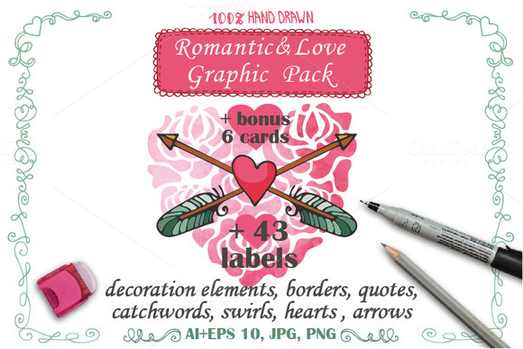 Love Romantic Decoration Pack 01