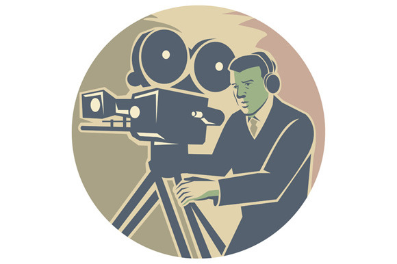 Cameraman Moviemaker Vintage Camera