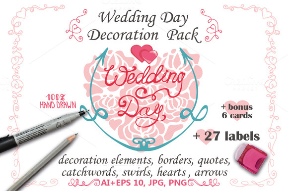 Wedding Decor Elements Lettering 01