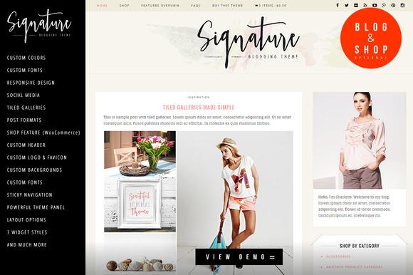 Signature Blog Store WP Theme