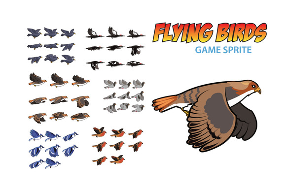 Flying Bird Game Sprite