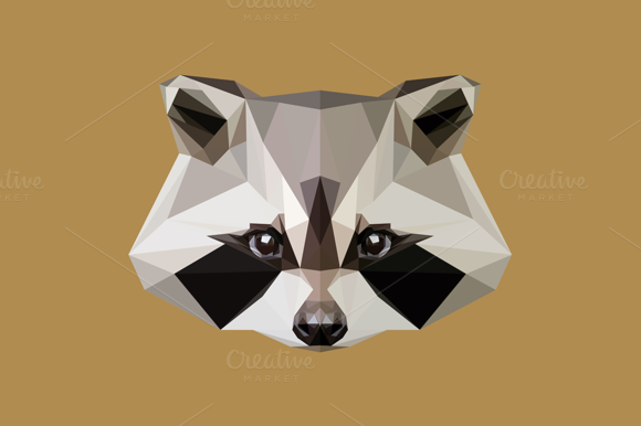 Low Poly Raccoon