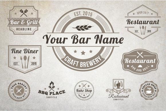 10 Vintage Restaurant Logos