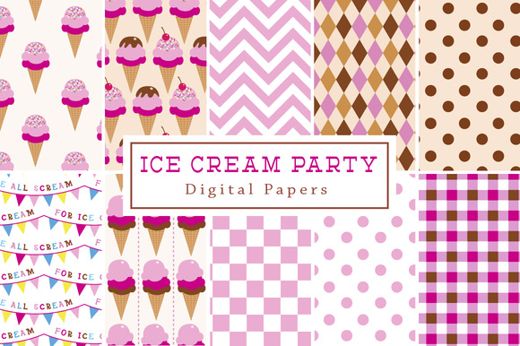 Ice Cream Party Backgrounds