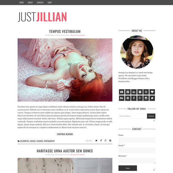 Blogger Template Responsive Premade