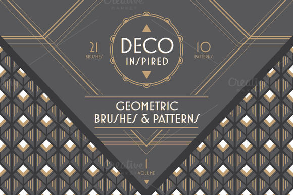 Deco Inspired Brushes Patterns V1