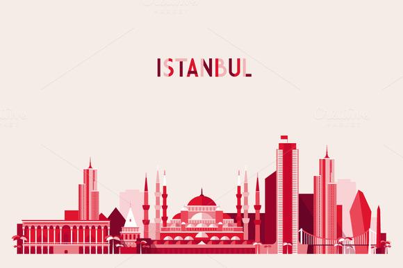 Istanbul City Skyline Turkey