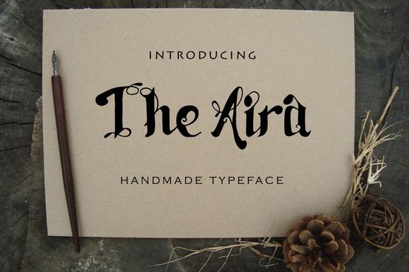 Aira Handmade Typeface
