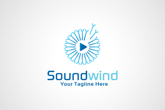 Sound Media Player Logo Template