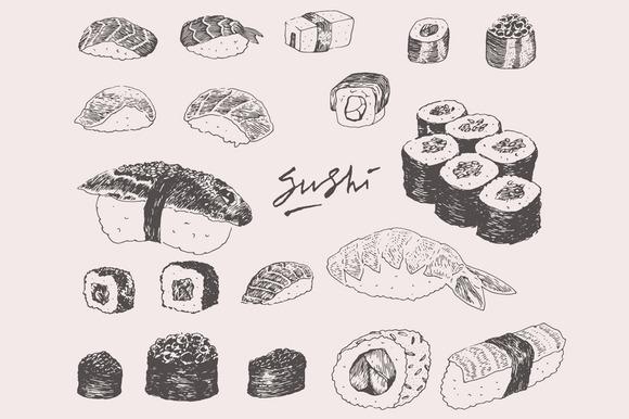 Sushi Set Illustration