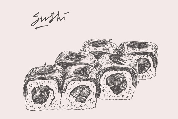 Sushi Set 2 Illustrations