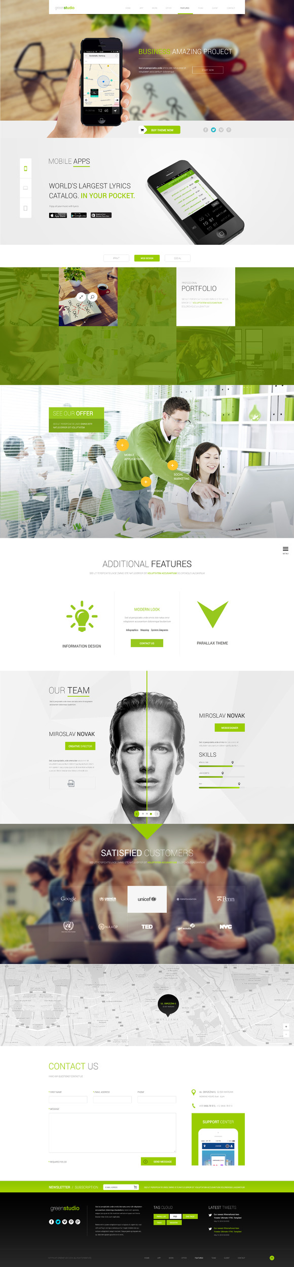 GreenStudio-Great OnePage