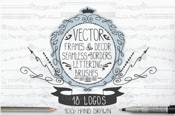Retro Frames Borders Logo Pack 01