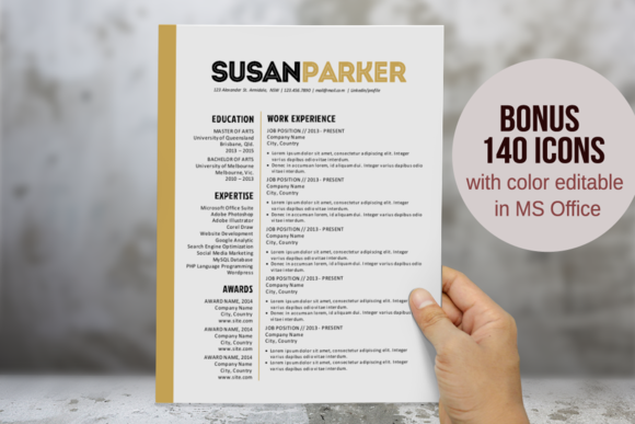 Bold Modern Word Resume Template