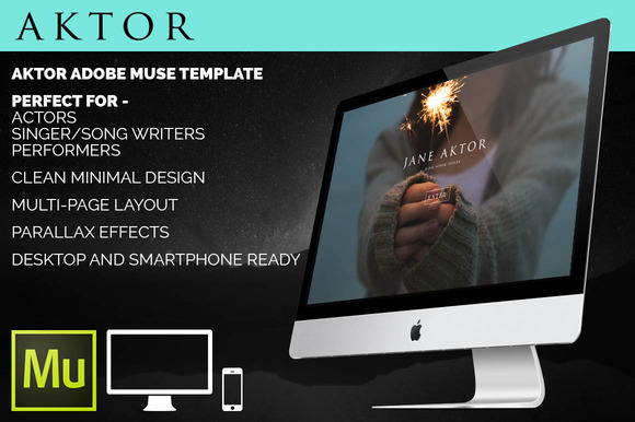 Aktor Adobe Muse HTML Template