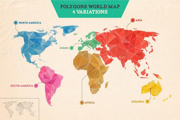 Polygons World Map