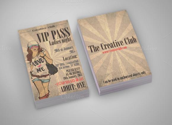 Vip Pass Card