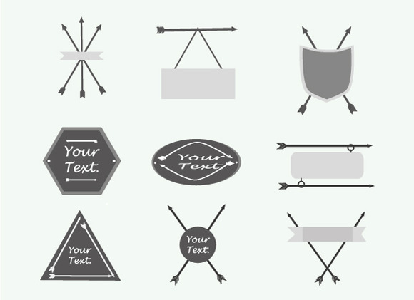 A Set Of Cute Hipster Arrows Hand D