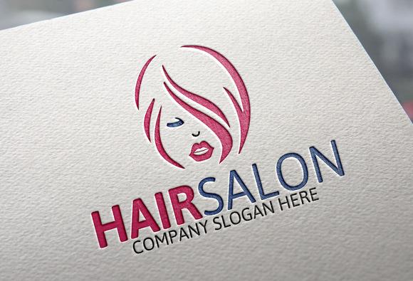 Hair Fashion Salon Logo