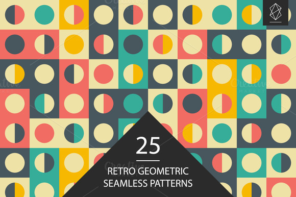 Retro Geometric Seamless Pattern Set