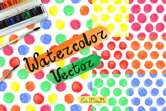 Watercolor Baby Pattern Polka Dot